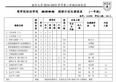 南京大学商学院课表